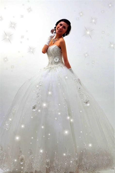Sparkly White Wedding Dress