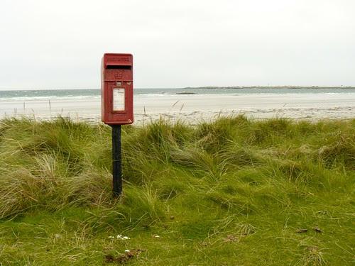 Postbox at Gott Bay