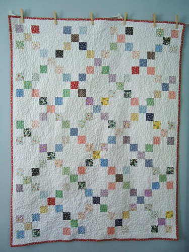 1933 Single Irish Chain Quilt: Front