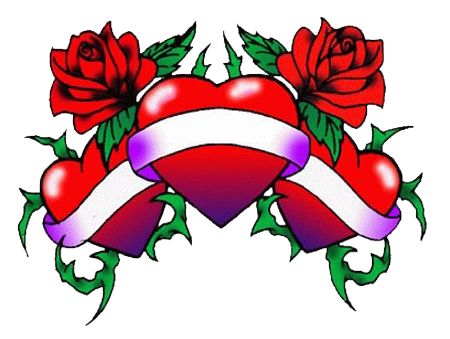 Rose Heart Tattoos Clip Art Library