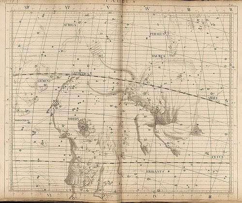 016- Taurus-Atlas Coelestis 1753- John Flamsteed- National Library of Australia