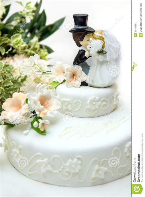 Close up of a wedding cake stock image. Image of decorate