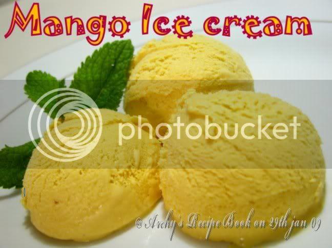 Archy's mango ice cream