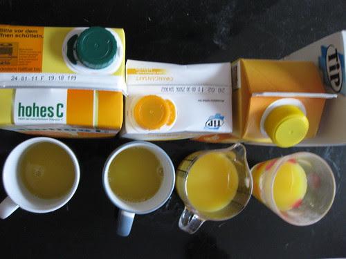 Orange juice compared