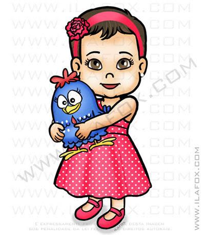 caricatura infantil, caricatura criança, caricatura menina, galinha pintadinha, by ila fox