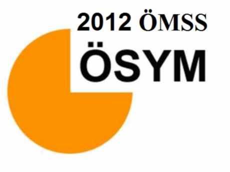 2012 ÖMSS Yerleştirme Tercih Sonuçları ÖSYM