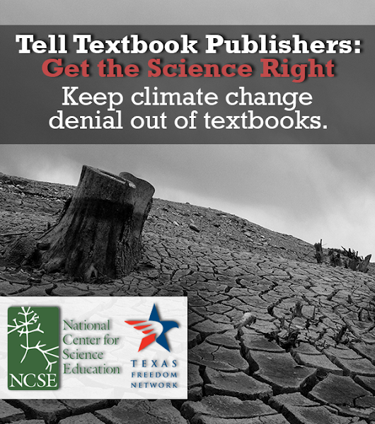 Remove climate change denial from Texas social studies textbooks