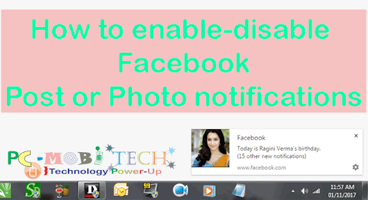 How to enable-disable Facebook Post Notifications. » PC MOBI TECH