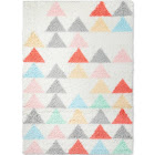 5'x7' Triangle Shag Area Rug - Pillowfort , Size: 5'x7'