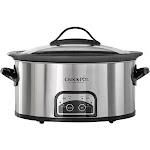Crock-Pot - 6qt Slow Cooker - Stainless Steel