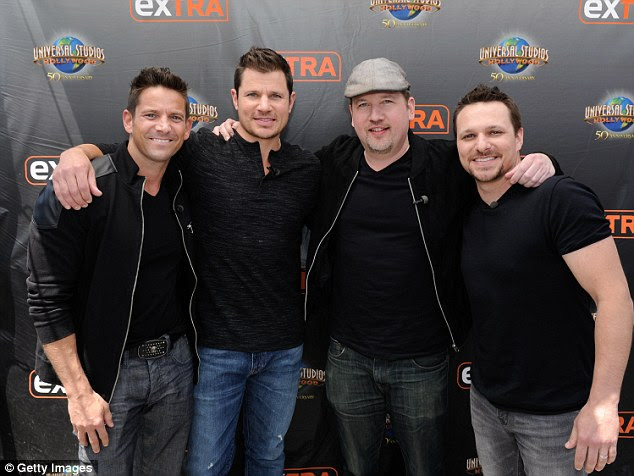 Big announcement: The trio and fellow band member Drew Lachey visiting Extra on Monday