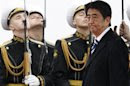 Japan's Prime Minister Shinzo Abe arrives in Moscow