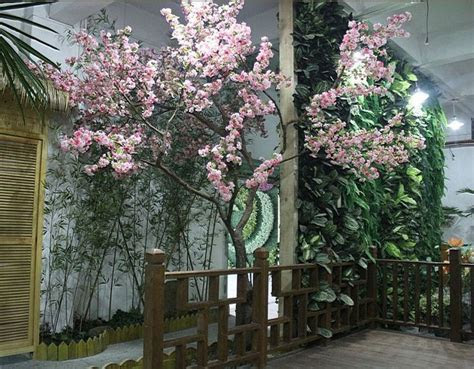 indoor artificial cherry blossom flowering fake trees $4