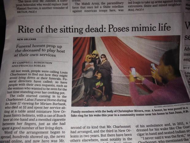 La foto dell'articolo sul New York Times