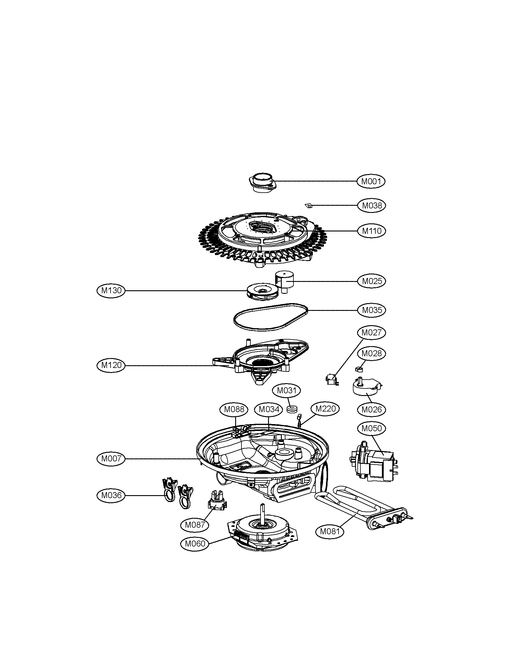 Wiring Diagram: 32 Lg Dishwasher Parts Diagram