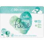 Pampers Aqua Pure Sensitive Baby Wipes 12x Pop-Top 672 Count