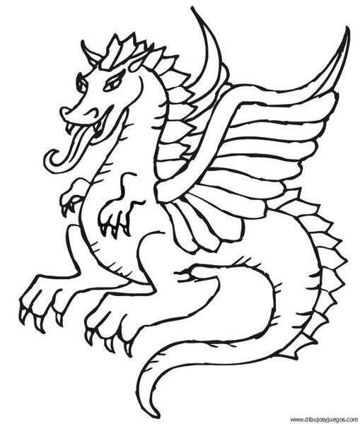 Dibujo De Dragon 099 Dibujos Y Juegos Para Pintar Y Colorear