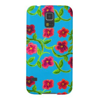Petunia Flower Design on Samsung Galaxy S5 Case