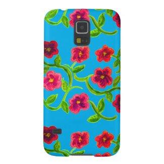 Petunia Flower Design on Samsung Galaxy S5 Case
