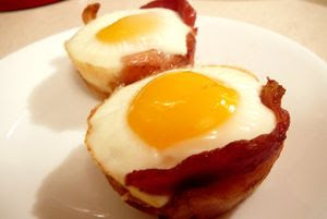 panceta y huevos