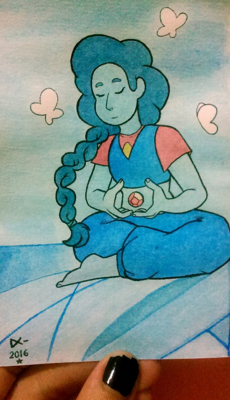 "Last drawing of 2016 ✨ Stevonnie in ""Mindful Education"""