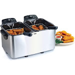 Maxi-Matic EDF4080 8 qt. Dual Deep Fryer Stainless Steel