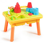 Sand and Water Play Table for Kids with Sand Castle Molds   Costway