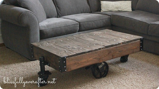 DIY Furniture ~ Restoration Hardware Factory Cart Table Knockoff