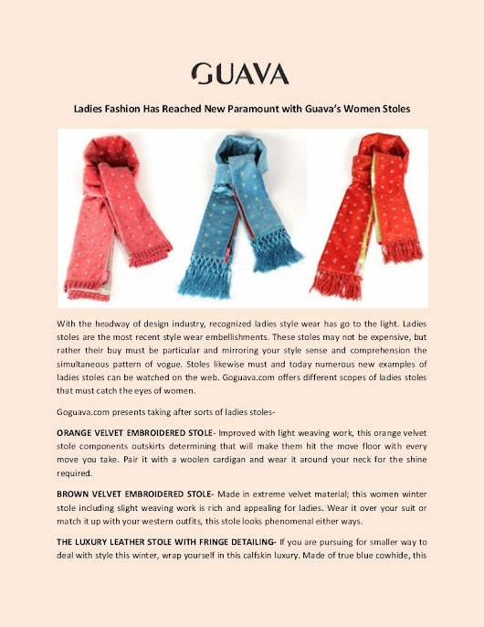 Buy Online Women stoles from Goguava
