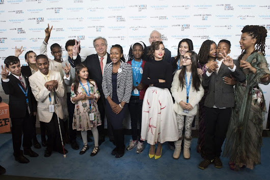 'Don't let adults off the hook, keep raising your voices;' Kids 'take over' UN for World Children's Day - United Nations Sustainable Development
