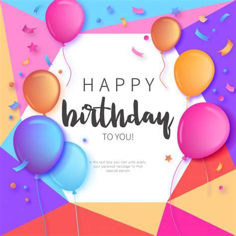 Colorful Birthday Invitation with Balloons   TnhPrinter.com