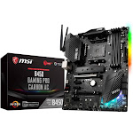 MSI B450 GAMING Pro CARBON AC with AMD B450 ATX Motherboard - Socket AM4