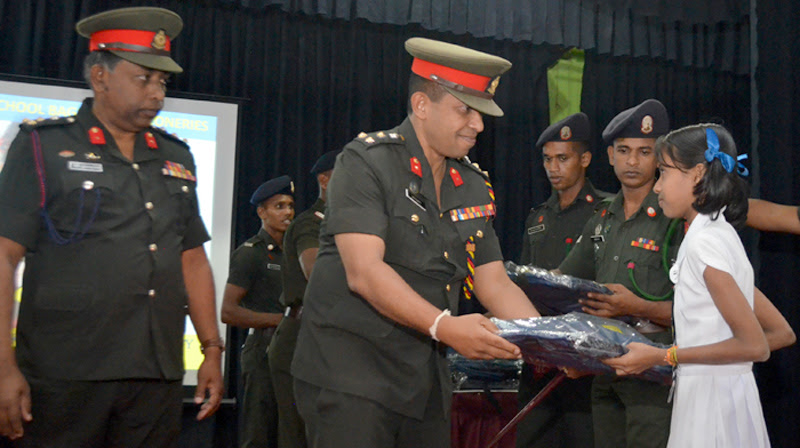 Jaffna Security Forces donate stationery to underprivileged students