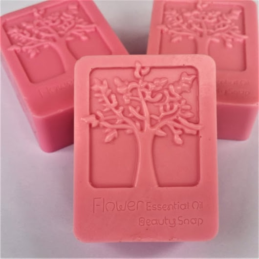 Cherry Almond Soap - Tree of Life Glycerin Soap - Handmade Glycerin Soap Bar - FREE SHIPPING - Unique Soap