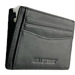 RFID Front Pocket Wallet and Card Holder - Otto Black 008 - Open