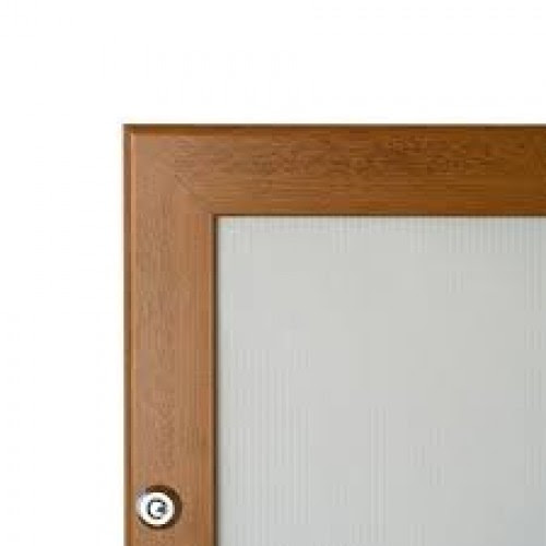 60x40 Wooden Effect Lockable Snap Frame Oak Pine 32mm