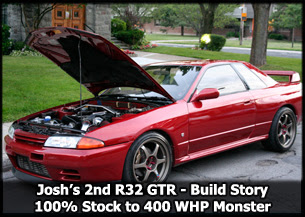 Josh's Second R32 GTR Stock to 400 WHP Stage 2