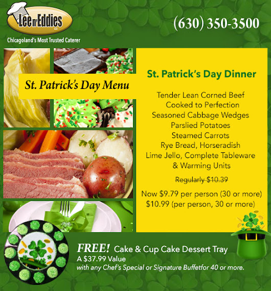 St Patrick's Day Catering - Delicious, Authentic Irish Menu at a Great Price