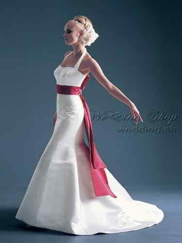 The difference between a wedding dress with colours and a