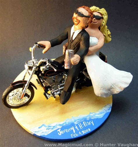wedding cake toppers: Motorcycle Wedding Cake Toppers
