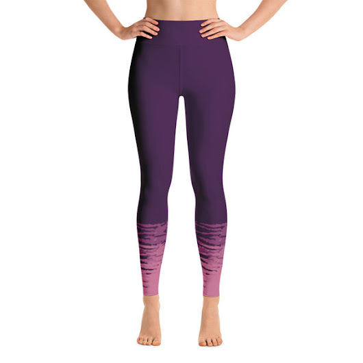 Purple and Pink Tie Dye Yoga Leggings
