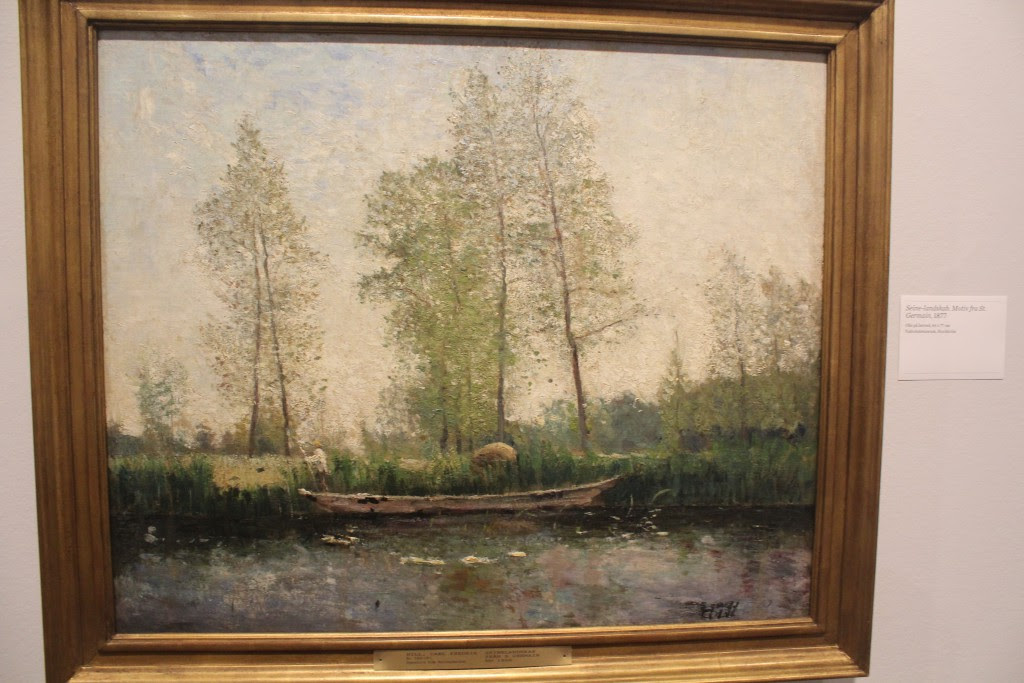 Carl Fredrik Hill: Seine-landskab fra St. Germain, 1877. Olie på lærred, 64 x 77 cm. Nationalmuseum Ctovkholm. Photo 27. nobember 2015 by Erik K Abrahams