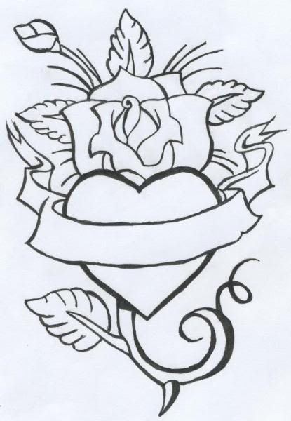 Free Rose And Heart Tattoos Download Free Clip Art Free Clip Art