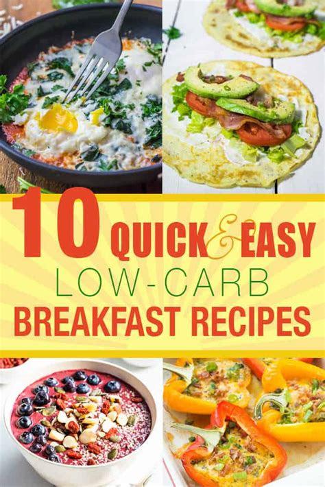 ideas  quick  carb recipes  diet