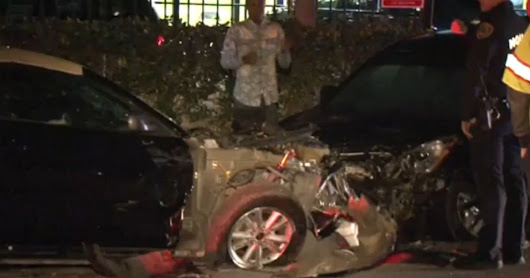 No one injured in 4-car pile-up in W. Houston