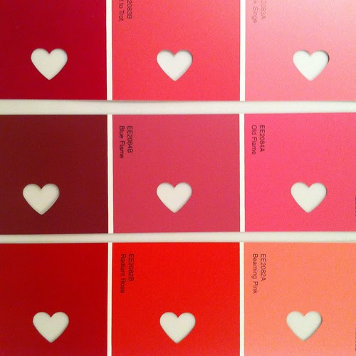 Valentine's Day Craft Project: Paint Chip Bookmarks - Old Town Home