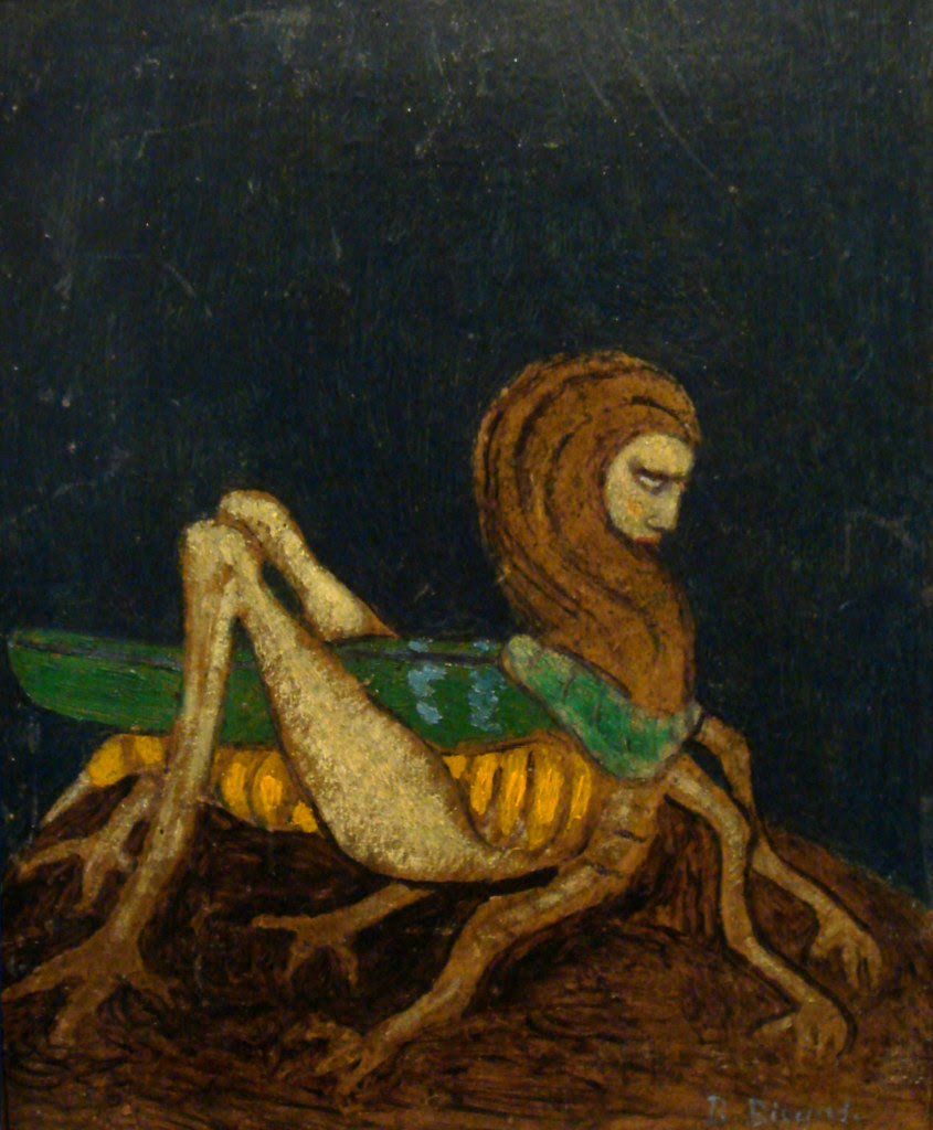 Boleslaw Biegas - Vampire In The Form Of Grasshopper, 1914