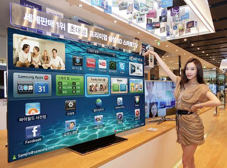 televisi canggih Samsung ES9000 LED TV oleh segiempat