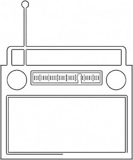 Radioamfm Dibujo De Una Radio Am Y Fm Para Pintar Y Colorear