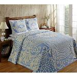 Better Trends Florence Chenille Bedspread Full Blue